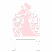 Curvy Cutout Pale Pink Headboard Wall Decal for Twin Bed