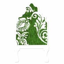 Curvy Floral Cutout With Grass Headboard Wall Decal for Twin Bed