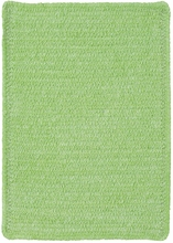 Custom Creations Braided Rug in Lime Green