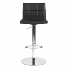 Cyd Bar and Counter Stool in Black and Chrome
