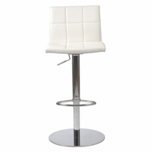 Cyd Bar and Counter Stool in White and Chrome