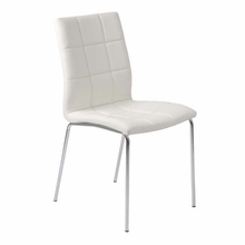 Cyd Office Chair in White and Chrome