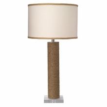 Cylinder Jute Table Lamp