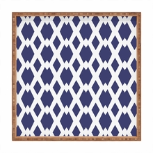 Daffy Lattice Navy Square Tray