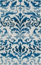 Damask Rug in Blue