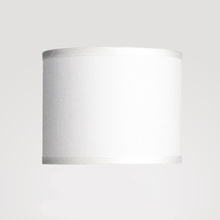 Dame Small White Linen Shade