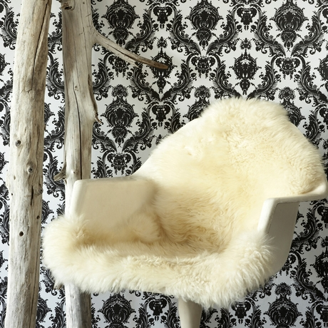 district17 damsel white and black removable wallpaper