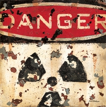 Danger Radiation Sign Canvas Wall Art