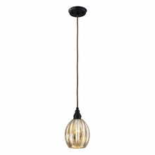 Danica Curved Pendant In Oiled Bronze