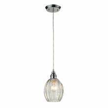 Danica Curved Pendant In Polished Chrome