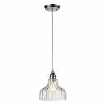Danica Wide Pendant In Polished Chrome