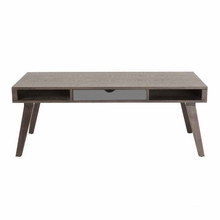 Daniel Coffee Table in Walnut and Gray