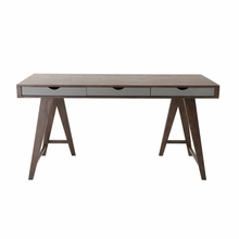 Daniel Desk in Walnut and Gray
