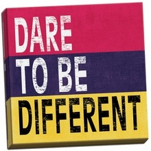 Dare to be Different II Canvas Wall Art