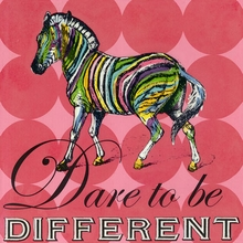 Dare to Be Different Zebra Canvas Art