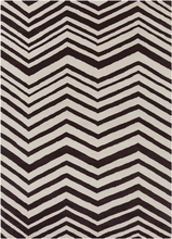 Davin Chevron Rug in Brown
