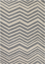 Davin Chevron Rug in Gray