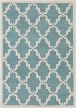 Davin Elegant Lattice Rug in Light Blue