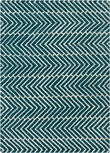 Davin Sideways Chevron Rug in Blue