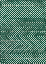 Davin Sideways Chevron Rug in Green