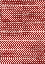 Davin Sideways Chevron Rug in Red
