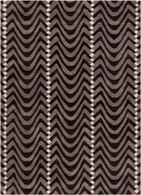 Davin Waves Rug in Dark Brown