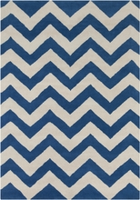 Davin Wide Chevron Rug in Blue
