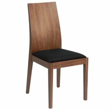 Deanna Side Chair in Walnut and Black - Set of 2