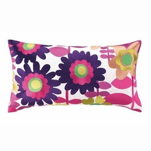 Debra Embroidered Pillow in Purple and Orange