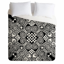 Decographic Black Lightweight Duvet Cover