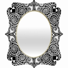 Decographic Black Quatrefoil Mirror