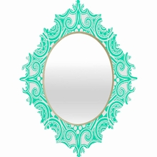 Decographic Mint Baroque Mirror