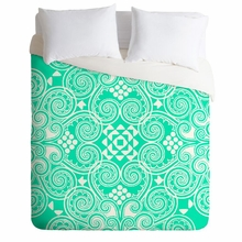 Decographic Mint Lightweight Duvet Cover