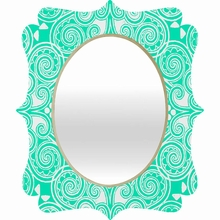 Decographic Mint Quatrefoil Mirror