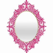 Decographic Pink Baroque Mirror