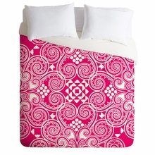 Decographic Pink Lightweight Duvet Cover