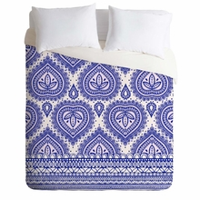 Decorative Blue Lightweight Duvet Cover