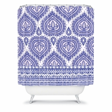 Decorative Blue Shower Curtain