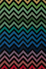 Delhi Dark Rainbow Chevron Rug