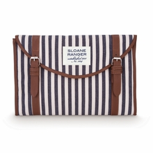 On Sale Denim Stripe Tablet Clutch