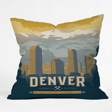 Denver 1 Throw Pillow