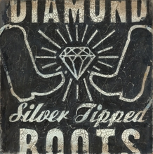 Diamond Boots Canvas Wall Art