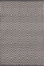 Diamond Indoor/Outdoor Rug in Graphite and Ivory