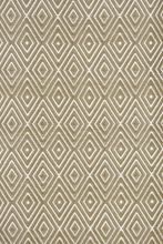 Diamond Indoor/Outdoor Rug in Khaki and White