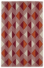 Diamonds and Stripes Nomad Rug in Red