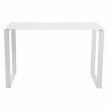 Diego Desk Glass in Pure White and White