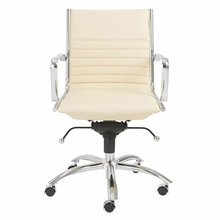 Dirk Low Back Office Chair in Butter and Chrome