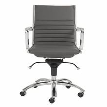 Dirk Low Back Office Chair in Gray and Chrome