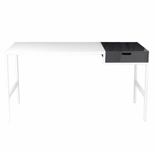 Diva Desk in White and Gray