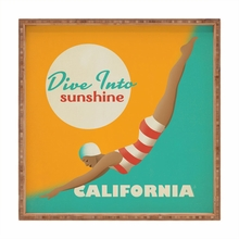 Dive California Square Tray
